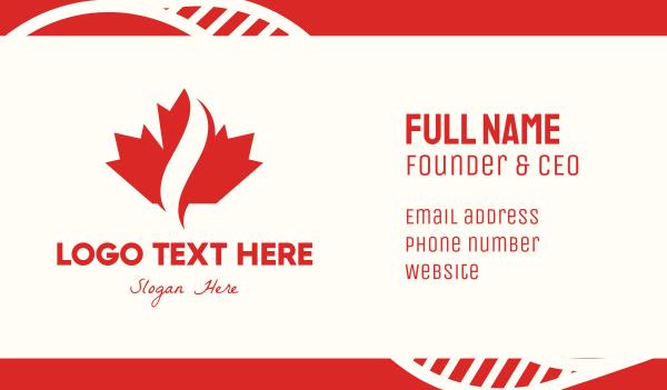 maple leaf - Red Canadian Maple Leaf Business card horizontal design