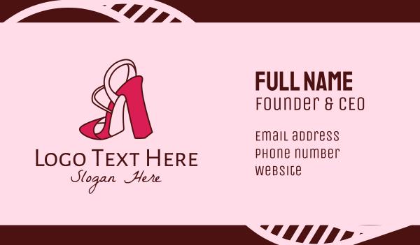 shoemaking - Stylish Slingback Heels  Business card horizontal design