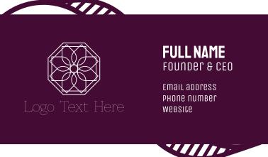 Geometric Flower Business Card