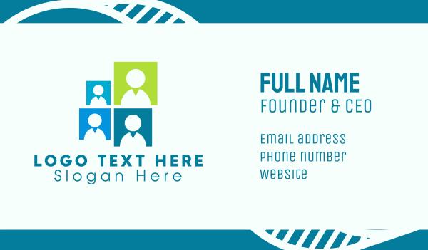 headhunter - Office Team Group Business card horizontal design