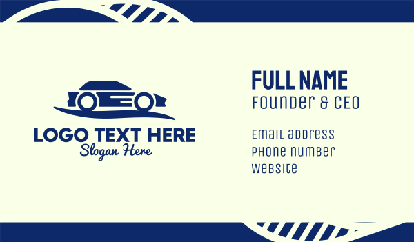sports car - Generic Blue Car Business card horizontal design