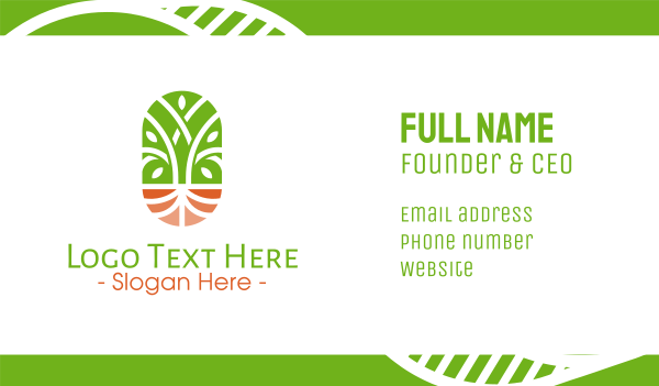 natural therapy - Organic Wellness Emblem Business card horizontal design
