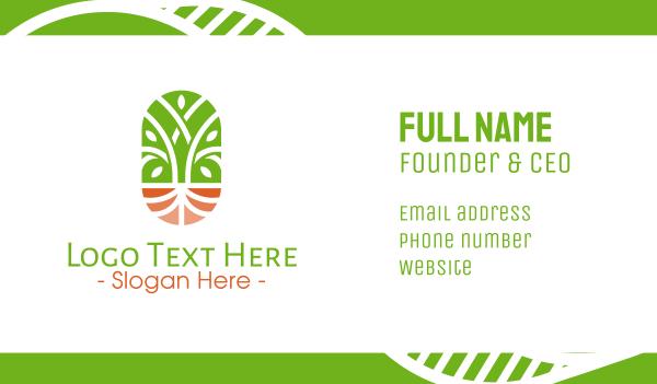 vines - Organic Wellness Emblem Business card horizontal design