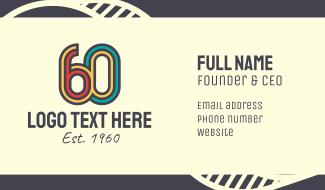 Retro 60s Business Card