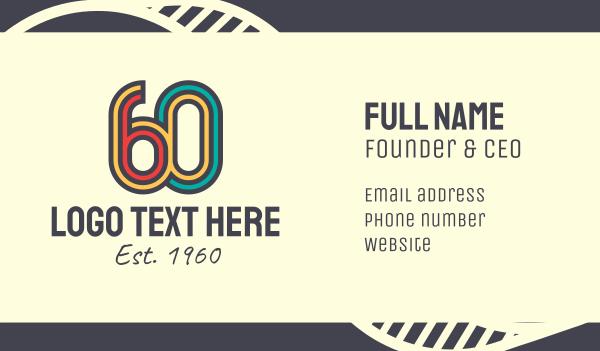 antique - Retro 60s Business card horizontal design