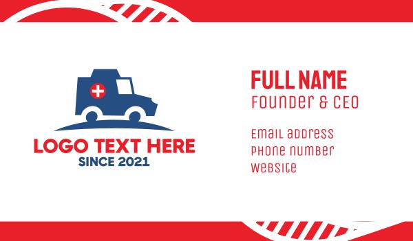 paramedic - Medical Emergency Hospital Ambulance Business card horizontal design