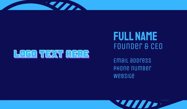 it expert - Electronics Wordmark Business card horizontal design