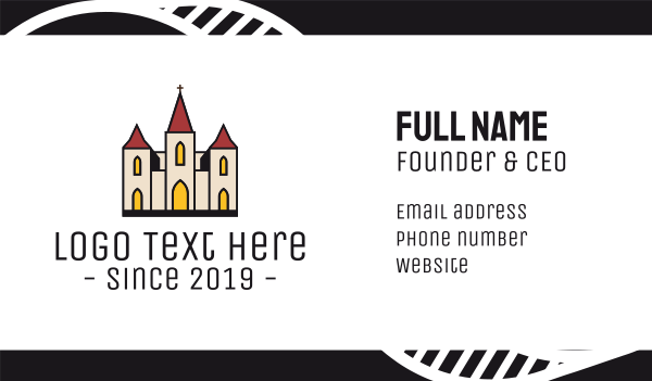 Catholic Church Business card