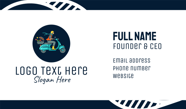 food delivery - Fruit Delivery Guy Business card horizontal design