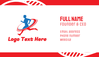 Sports Running Fitness Business Card
