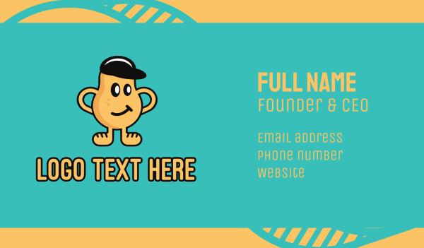 snacks - Smirk Potato Man Business card horizontal design