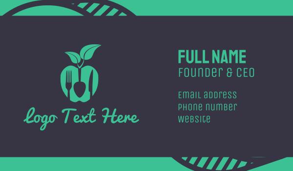 raw - Vegan Food Business card horizontal design