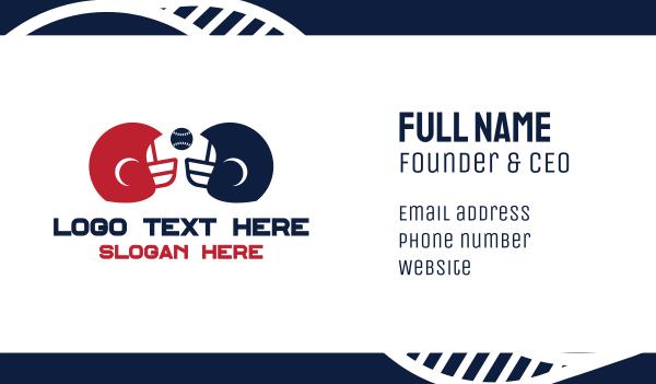 nfl - Baseball Helmet Business card horizontal design