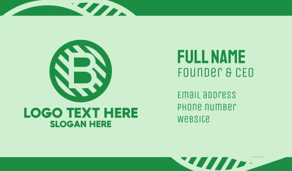 maintenance - Bitcoin Letter B Business card horizontal design