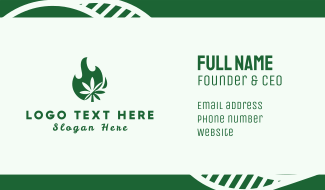 Flaming Cannabis Business Card