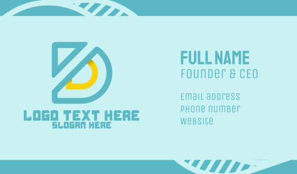 deluxe - Modern Letter D Business card horizontal design