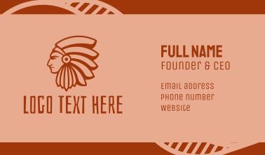 Native American Profile Business Card