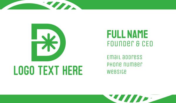 asterisk - Green D Asterisk Business card horizontal design