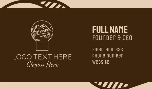 trail - Minimalist Mountain Path  Business card horizontal design