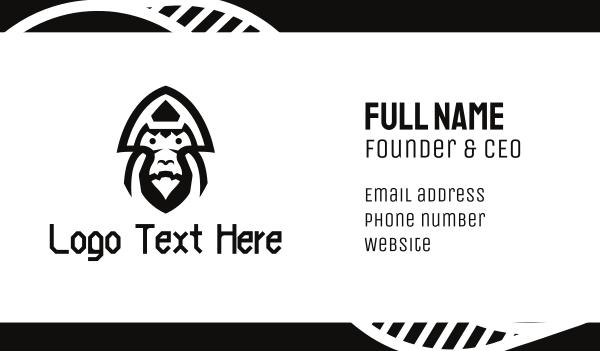 congo - Warrior Gorilla Business card horizontal design