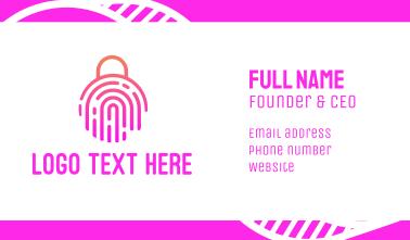 Fingerprint Biometric Lock Business Card