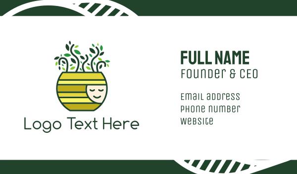 pot plant - Happy Pot Plant Business card horizontal design
