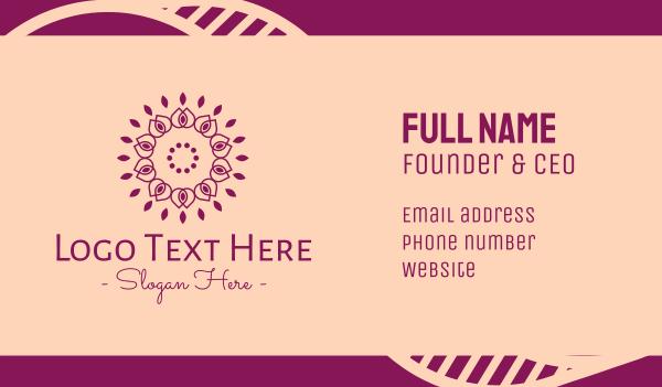 flower stall - Organic Flower Spa Business card horizontal design