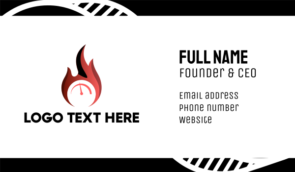 burning - Fire Gauge Business card horizontal design
