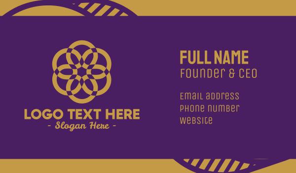hospitality - Luxury Gold Flower Business card horizontal design