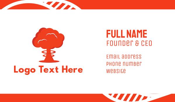 nuclear - Mushroom Cloud Business card horizontal design