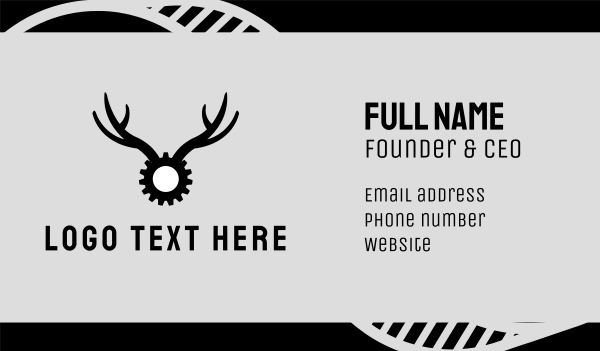 antelope - Gear Antlers Business card horizontal design