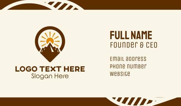 backpacker - Mountain Sunrise Location  Business card horizontal design