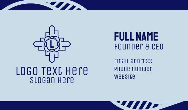 urban planner - Property Developer Letter  Business card horizontal design