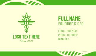 Medical Marijuana Cannabis Business Card