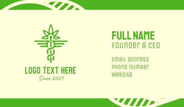 natural therapy - Medical Marijuana Cannabis Business card horizontal design