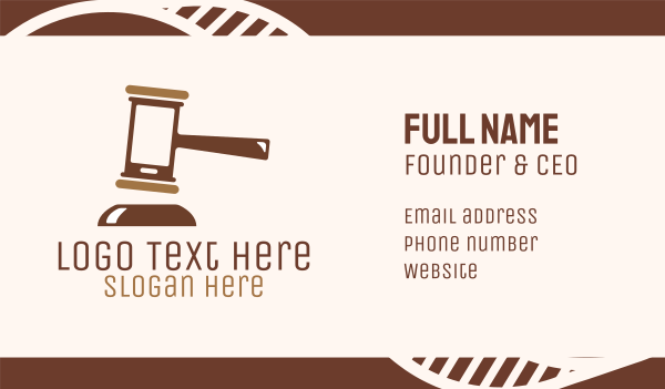 judiciary - Brown Mobile Justice Business card horizontal design