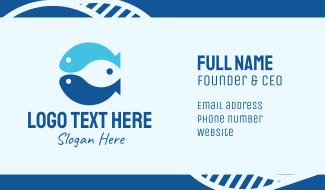 Triple Blue Fish Business Card