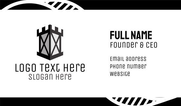 security - Castle Tower Business card horizontal design