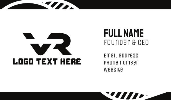 5d - Black Tech VR Business card horizontal design