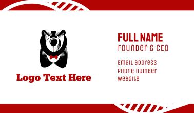 Big Bear & Bowtie Business Card