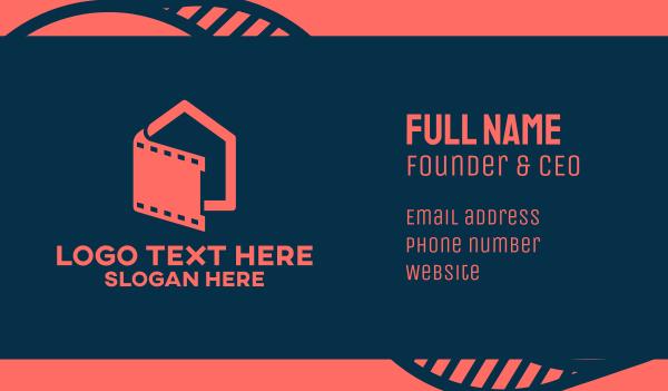 film studio - Entertainment Film Movie Studio Business card horizontal design