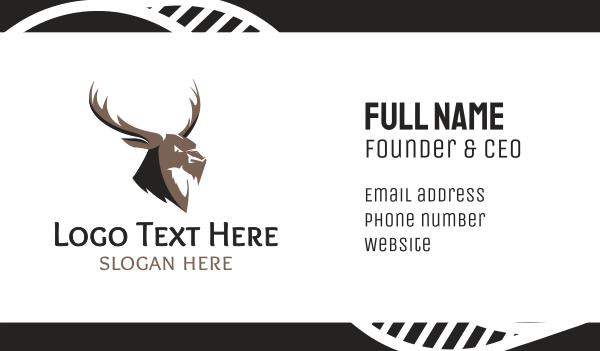 reindeer - Angry Elk Business card horizontal design