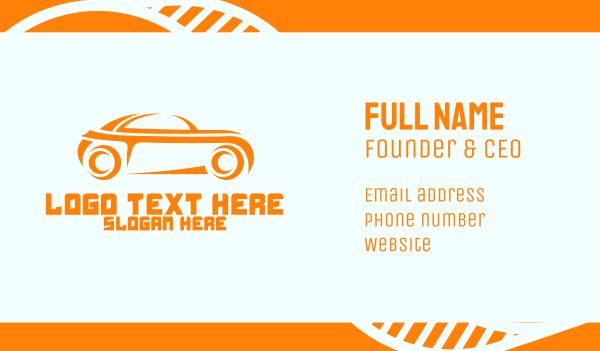 sporty - Sporty Orange Car Business card horizontal design