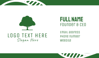Green Tree Business Card