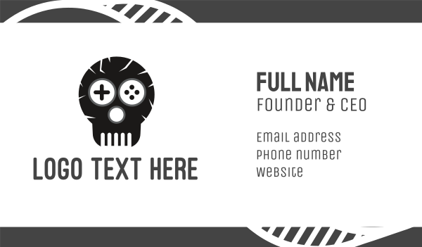remote control - Game Skull Logo Business card horizontal design
