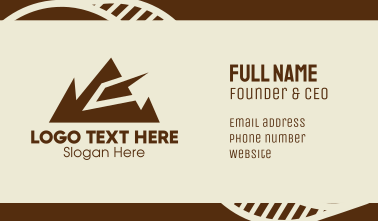 Geometric Mountain Range  Business Card