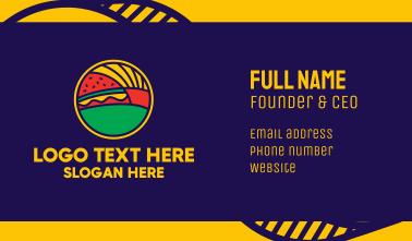 Fries & Burger Restaurant  Business Card