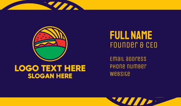 yellow cheese - Fries & Burger Restaurant  Business card horizontal design