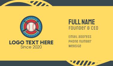 Baseball Team Crest Business Card