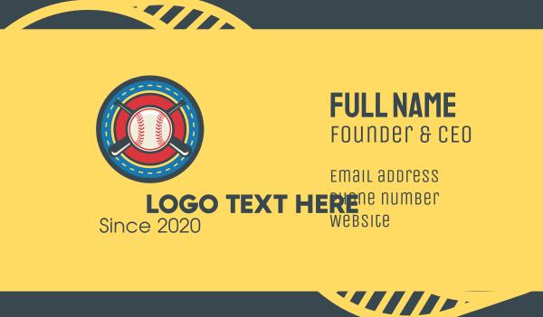 baseball tournament - Baseball Team Crest Business card horizontal design
